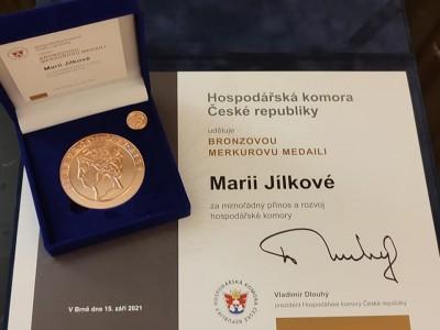 Předávaní Merkurových medailí 2021
